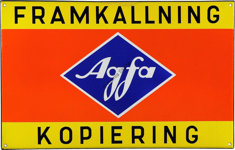 Emaljskylt Agfa Framkallning Kopiering