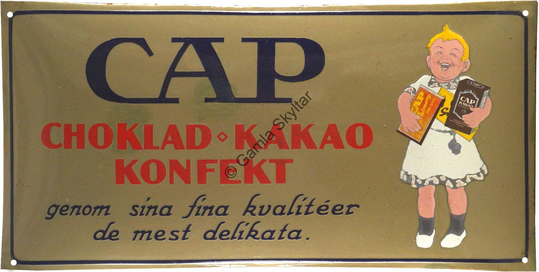 CAP Choklad Kakao Konfekt - Gamla Skyltar e241ef9ef7308