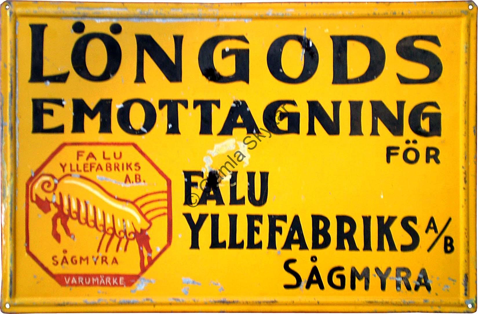 Falu Yllefabrik - Gamla Skyltar 3235168f66dbd