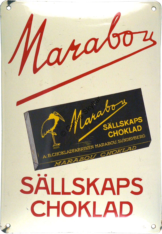 Marabou Sällskaps Choklad - Gamla Skyltar 6c0dbe5dbbd4e
