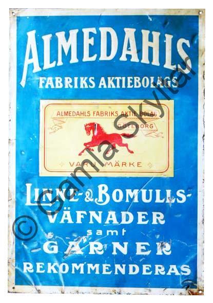 Almedahls fabriksaktiebolag - Gamla Skyltar ab0bd41bf6d37