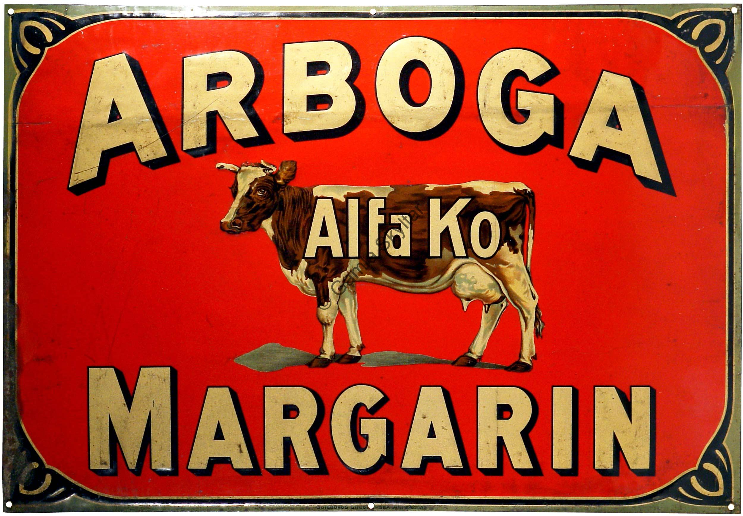 Arboga Alfa Ko Margarin Gamla Skyltar