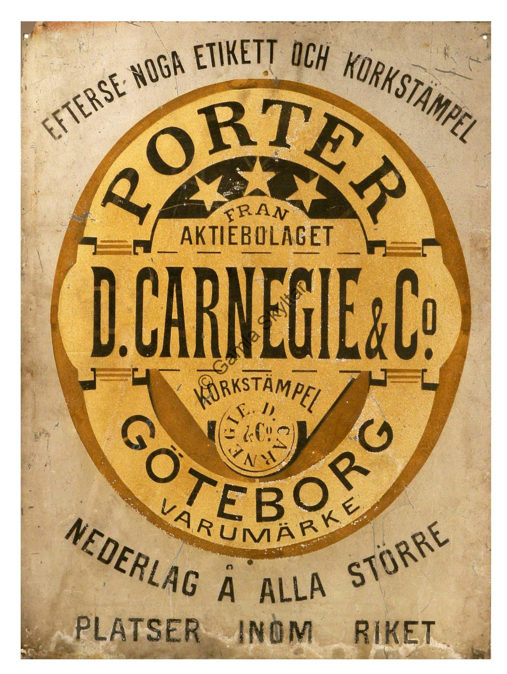 Carnegie Porter - Gamla Skyltar b46ead53950de