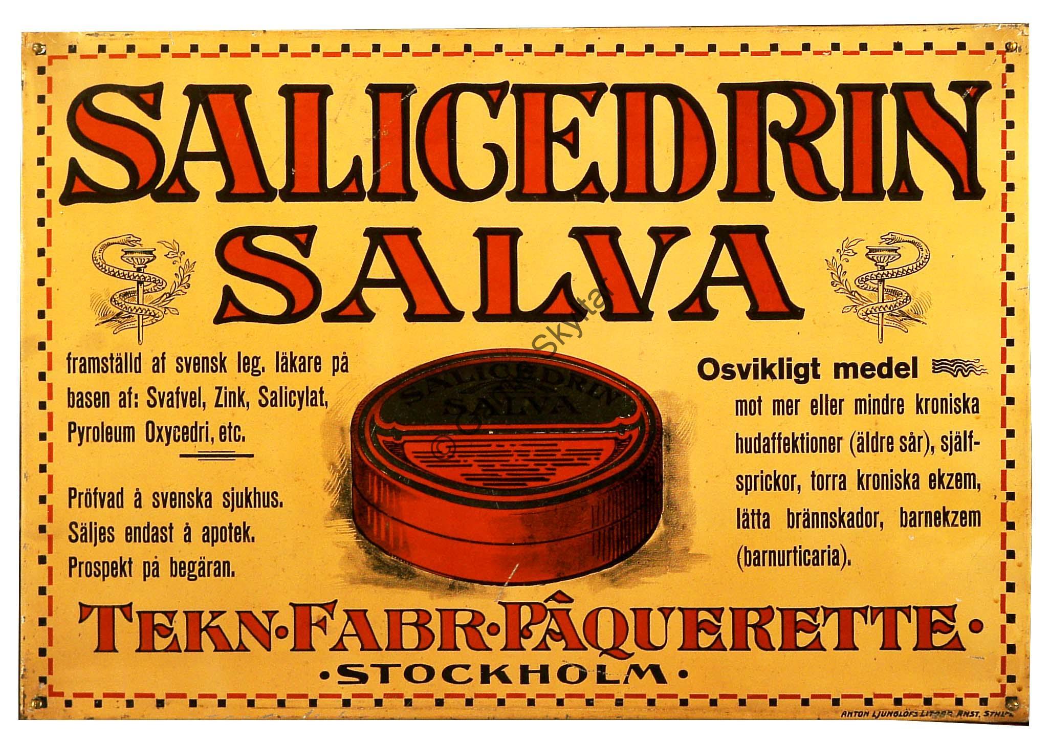 Salicedrin Salva - Gamla Skyltar 0b650e01c9fe6