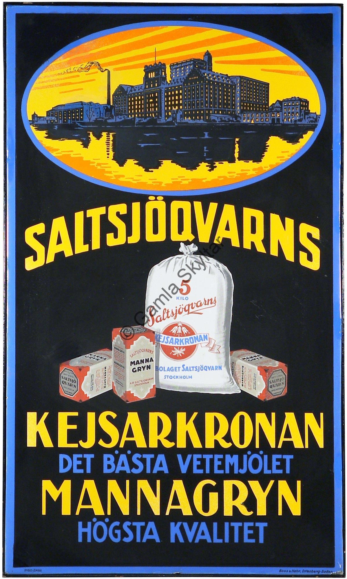 Saltsjöqvarns Kejsarkronan - Gamla Skyltar b31ada157401b